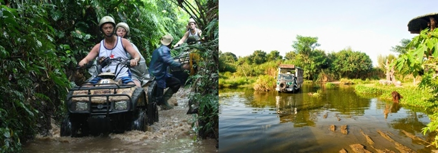 Bali ATV ride and Bali Safari Marine Park Tour